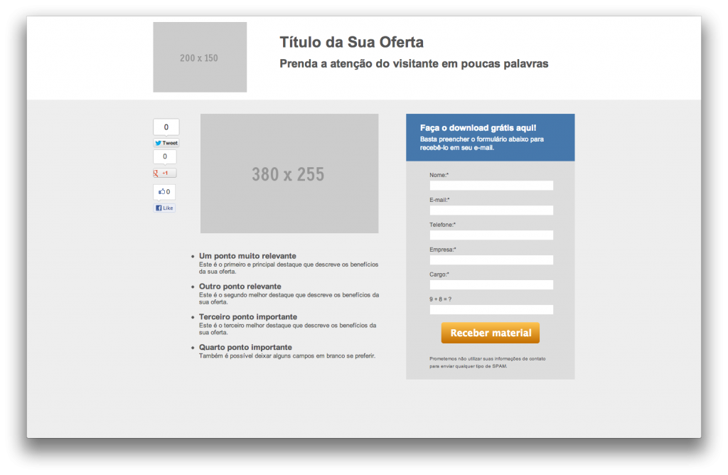 Otimizando Landing Page