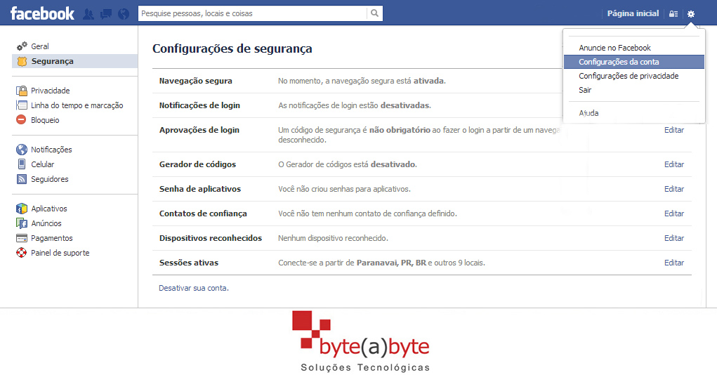 Como navegar com segurança no Facebook