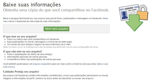 Backup Facebook