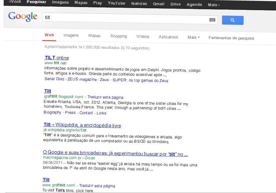 Efeito do google Tilt